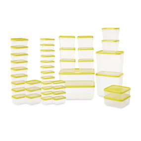 Polka Plastic Container Set, 42-Pieces,  yellow