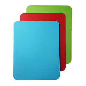 Chopping Mat Set Of 3, 38X29X0.22Cm, multi color