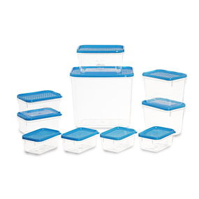 Polka Container Set of 10,  blue