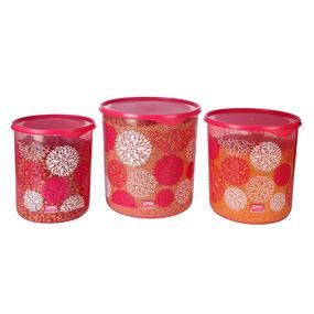 Dura Fresh Decor Container Set, Set of 3, ( 5000 ml - 7500ml -10000ml), 22.5 ltr,  pink