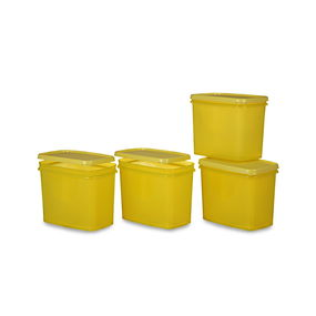Sleek Container Set, Set Of 4, Red,  yellow