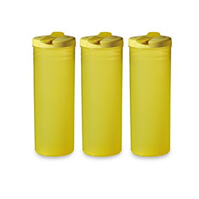 Freeze Bottle Set of 3, 1 Litre,  yellow