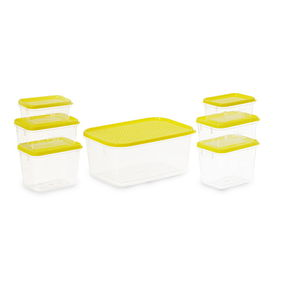 Polka Container Set of 7,  yellow