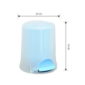 Transparent Pedal Bin, 5000 ml,  blue