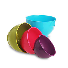 Classic Mixing Bowl Set, 4-Pieces, multi color