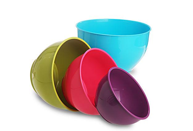 Classic Mixing Bowl Set, 4-Pieces, Multicolour, multi color