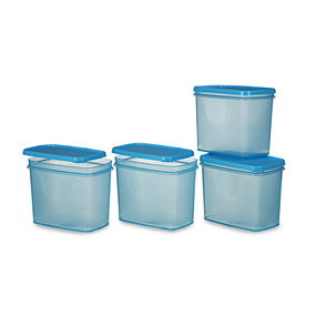 Sleek Container Set, Set Of 4, Red,  blue