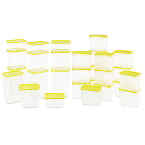 Polka Containers Set of 28,  yellow