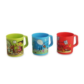 Joy Mug Set of 3, multi color