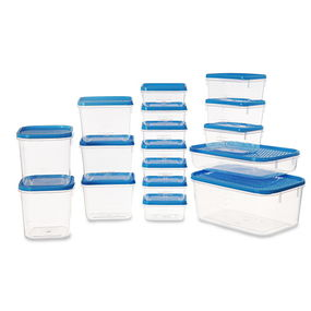 Polka Container Set, 6.5 Litre, Set Of 17,  blue