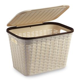 Cresta Rectangular Basket 20 Ltr Cream, cream