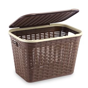 Cresta Rectangular Basket 20 Ltr Brown, brown