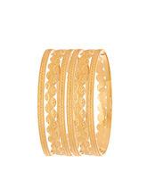 Sapna FX Gold Plated Bangle (6 Pcs) - 8043, 2.8