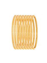 Sapna FX Gold Plated Bangle (8 Pcs) - 8045, 2.6