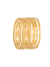 Sapna Gold Plated Bangles (6 Pcs) - 7081, 2.4