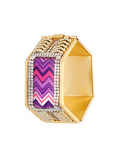 Sapna FX Hexagon Purple Gold Plated Women Kada (1 Psc) - K7013, free size