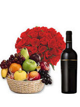 BAF Fruits N Wine Hamper Gift, Free Shipping