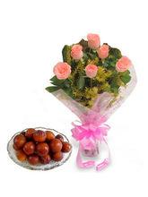 BAF Roses N Gulab Jamun Sweets Gift, Free Shipping...