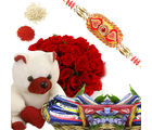 BAF Roses With Chocolate Basket Gift