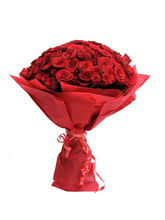 BAF Red Hot 100 Roses Gift, Fixed Time Delivery