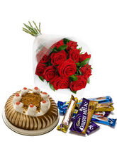 BAF Happiness Bouquet 500 Gms Gift, Midnight Deliv...