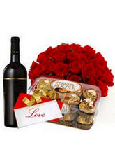 BAF Sweet Wishes with Wine Gift, midnight delivery