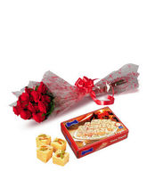BAF 10 Roses With Sonepapri Gift, Free Shipping