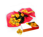 BAF Roses With Motichur Laddu Gift, free shipping