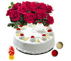 BAF Cakes n Flowers 1 kg Gift, fixed time delivery