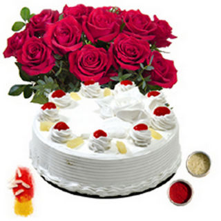 BAF Cakes N Flowers 1 Kg Gift, Fixed Time Delivery...