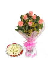 BAF Roses N Rasgulla Sweets Gift, Free Shipping
