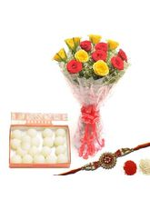 BAF Red N Yellow Rakhi Hamper Gift