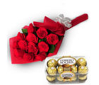 BAF Charming Roses For Celebrations Gift, midnight delivery