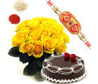 BAF Yellow Roses With Cake Gift