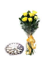 BAF Yellow Roses N Kaju Katli Gift, Free Shipping