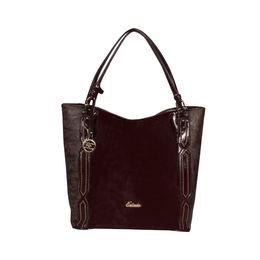 ESBEDA Solid Pattern Chevron Hobo Handbag For Women,  coffe