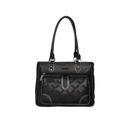 ESBEDA Solid Pattern Blissy Handbag For Women,  black