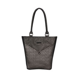 ESBEDA Solid Pattern Glitter Emboss Hand bag For Women,  black