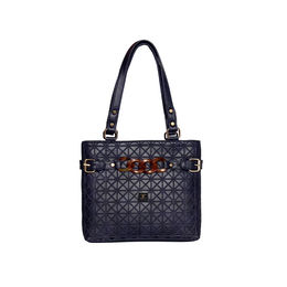 ESBEDA Emboss Dotmatrix quilted Handbag For Women,  blue