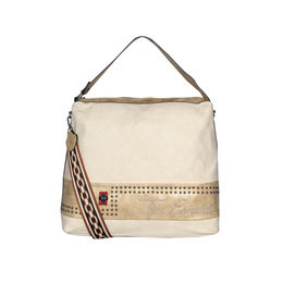 ESBEDA Emboss Pattern Gypsy Hobo bag For Women,  beige