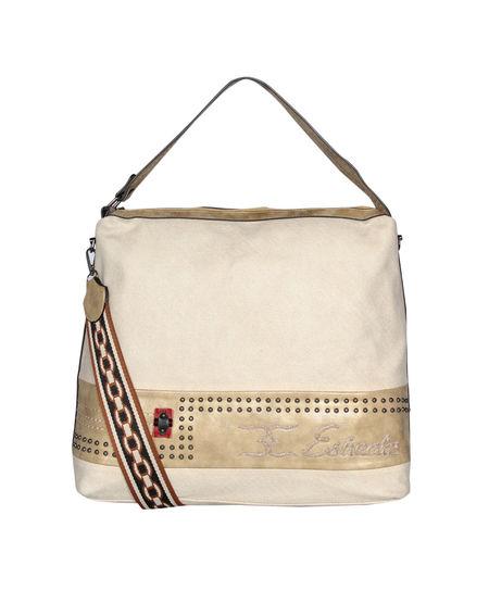 ESBEDA Emboss Pattern Gypsy Hobo bag For Women,  beige