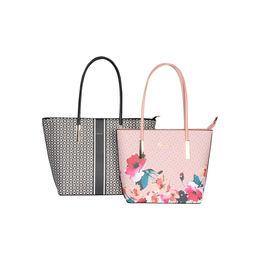 ESBEDA Printed Pattern Graphic Combo Handbag For Women,  black