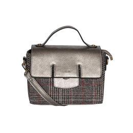 ESBEDA Emboss Pattern Bernina Jute Suede Handbag For Women,  silver
