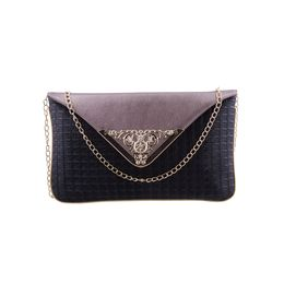 ESBEDA LADIES CLUTCH AB08122017,  black-gunmetal