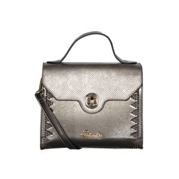 ESBEDA Solid Pattern Fontanelli Glitter handbag For Womens,  grey