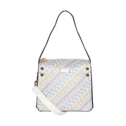 ESBEDA Printed Logo font handbag For Women,  white