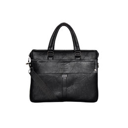 ESBEDA Solid pattern Grain Laptop Bag for Mens and women,  black