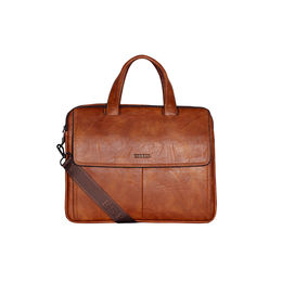 ESBEDA Solid Pattern Grain Laptop Bag,  tan