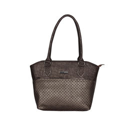 ESBEDA Glitter Emboss Hand bag For women,  coffee