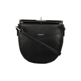 Esbeda Black Color Small Size Solid U-Shaped Saddle Sling Bag For Women,  black